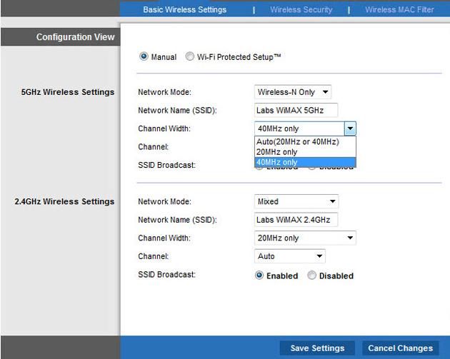 Router Channel Width Wirelesshack