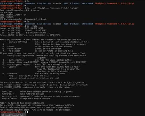 Basic Kali Linux commands and tools for wireless Pen testing
