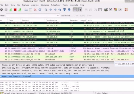 Using Wireshark and Kali Linux to hack a Website