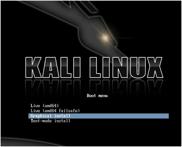 Kali Linux hardrive install