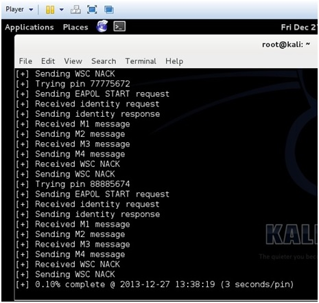 reaver running on kali linux