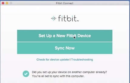 sync a fitbit usb dongle with a PC