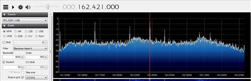 weather signal software defined radio