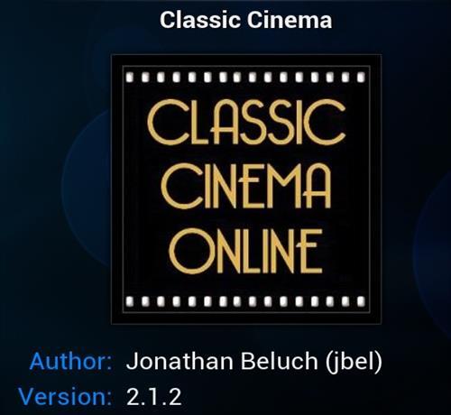 Classic Movies addon Kodi