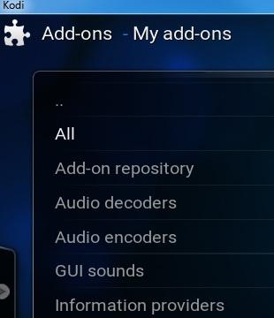 Kodi add-ons Click ALL