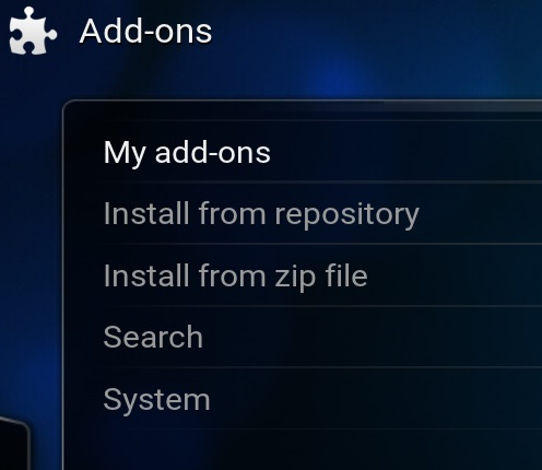 Kodi addons instaltion