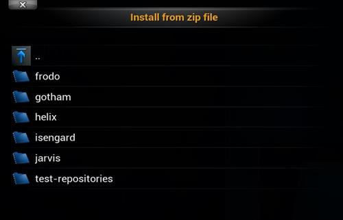 Select the Version of Kodi Installed
