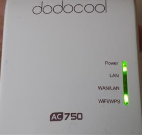 DodoCool AC750 Wireless repeater setup