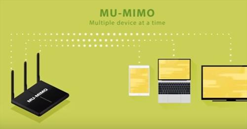 MU-MIMO is a technology that allows many wireless signals to transmit to a device, such as a router, at the same time