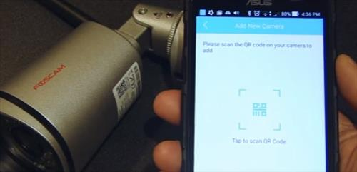 Review Foscam FI9805P 960P Outdoor HD Wireless IP Camera Scan QR Code