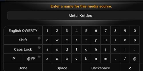 enter a name for this media source Metal Kettles
