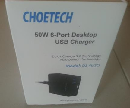 Review CHOETECH 50W 6-Port USB  Quick Charge 3.0 Charging Station