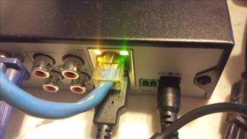 SANNCE Ethernet Cable DVR Plug Network Setup