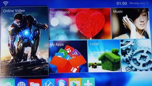 Mini M8S Budget Android Kodi Smart TV Box Interface