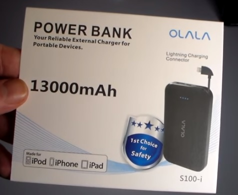 Review OLALA 13000mAh Portable Battery Power Bank for iPhone or Android