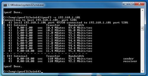 iperf3 speed test Ourlink TCP 5GHZ
