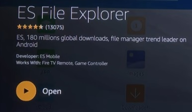 ES File Explore Search Download and Install and OPen