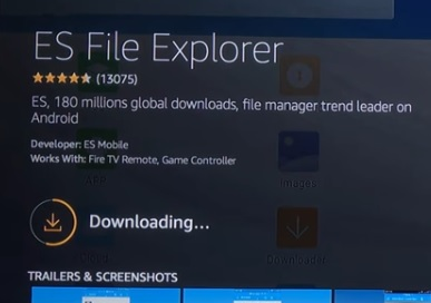 ES File Explore Search Download and Install