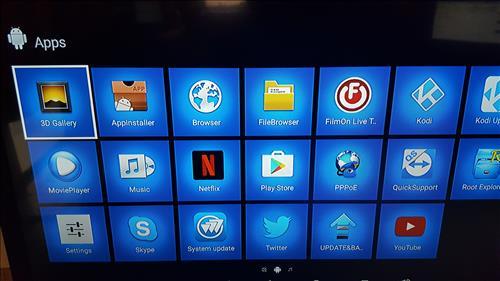 AKASO T95Z PLUS TV BOX Apps