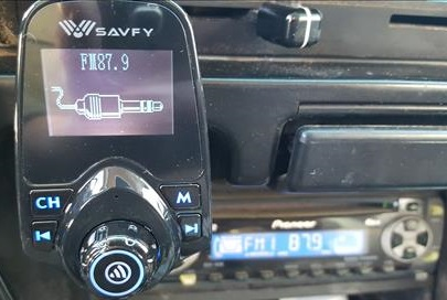 Bluetooth FM Transmitter, SAVFY Bluetooth In Truck