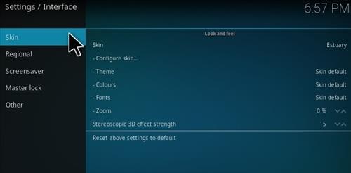 How To Change Kodi 17 Krypton Estuary Skin To Kodi 16 Confluence Pic 3