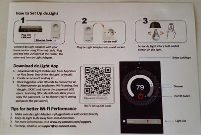 Review XYConnect De.Light Wireless Access Point Instructions