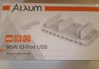 Review Alxum 96W 10-Port Power Port USB Charging Station