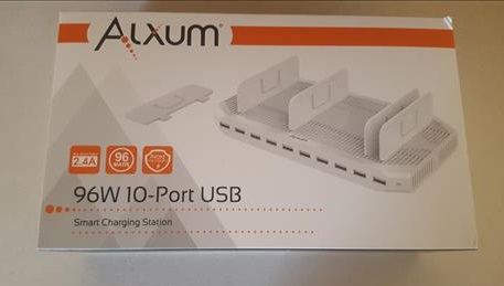 Review Alxum 96W 10-Port Power Port USB Charging Station