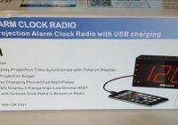 Review Mesqool AMFM Digital Dimmable Projection Alarm Clock Radio