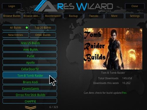 How To Install Tomb Raider Build Kodi 17.3 Krypton Step 21