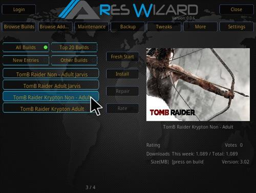 How To Install Tomb Raider Build Kodi 17.3 Krypton Step 26