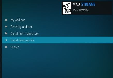 How to Install Mad Streams Add-on Kodi 17-17.4 Krypton step 13