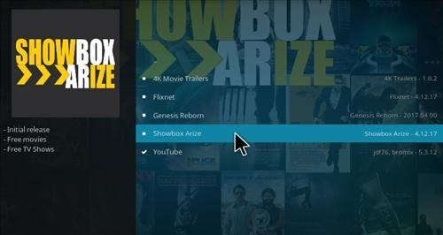 How to Install Showbox Arize Add-on Kodi 17.1 Krypton step 17