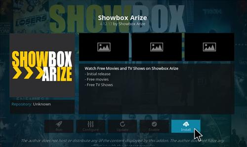 How to Install Showbox Arize Add-on Kodi 17.1 Krypton step 18
