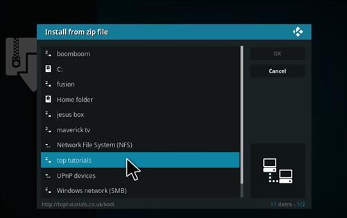 How to Install Watch 5S Add-on Kodi 17.1 Krypton step 11