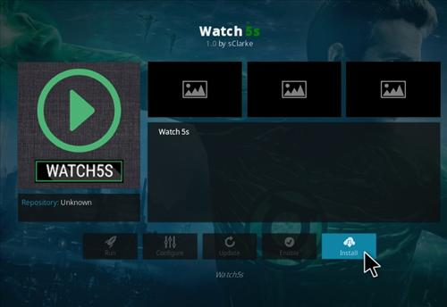 How to Install Watch 5S Add-on Kodi 17.1 Krypton step 19
