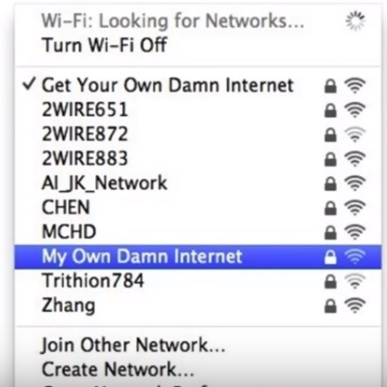 List of Best WiFi Names We Have Seen 2018