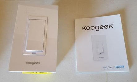 Review Koogeek Smart WiFi Light Switch 2.4Ghz No Hub Required Single Pole Overview