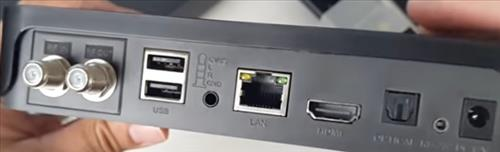 Review WeTek Play 2 ATSC Hybrid Box Unit Back