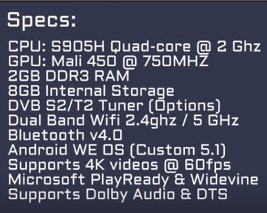 Review WeTek Play 2 ATSC Hybrid Specs