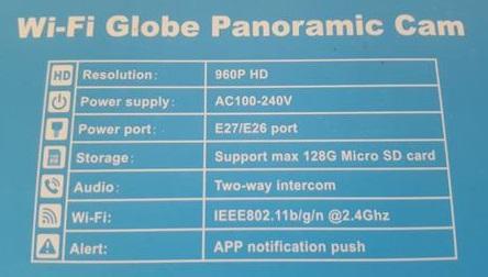 Review ISEC 960P WiFi IP Camera Wireless LED Bulb Sepcs