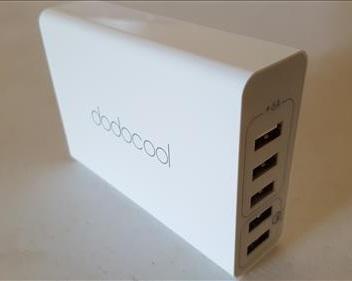 dodocool USB Charger 5 Ports Desktop Charging Station Sides