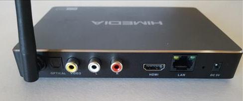 HIMEDIA A5 Android TV Box Almlogic S912 2GB RAM Back