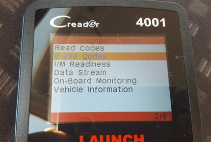 Review Launch CReader 4001 OBD2 Diagnostic Scan Tool Erase Codes