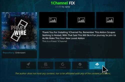 How to Install 1Channel FIX Kodi Addon Step 18
