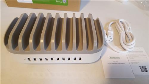 Review NUK-10P USB 10 Port Charging Station Dock and Organizer for Multiple Devices ALL
