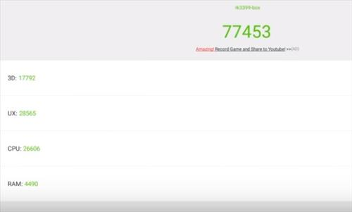 Review R99 4K Android TV Box 4GB RAM RK3399 Benchmark AnTUTU