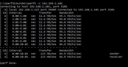 BrosTrend 5GHz iperf Test