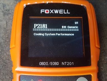 Review Foxwell NT201 OBDII Code Scanner Error Code
