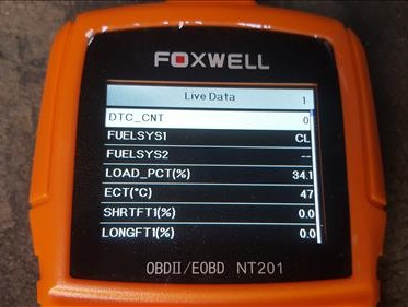Review Foxwell NT201 OBDII Code Scanner Live Data